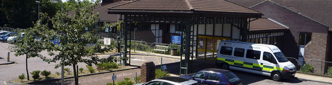 Picture of the top entrance to the Verulam Wing at Hemel Hempstead Hospital