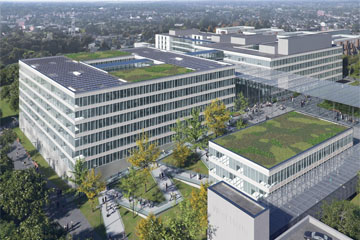 Picture of an artist's impression of new hospital buildings at Watford Hospital